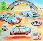 Ford gt 40s..
