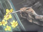 L'artiste peint.