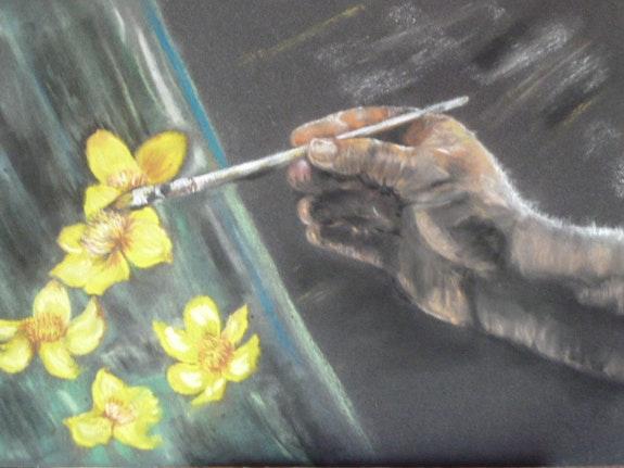 L'artiste peint. Amdv Anne-Marie Vandorpe Deligne