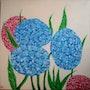 Peinture à l'huile Les Hortensias. Oxana Mustafina