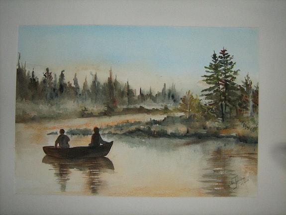Pêcheurs sur la rivière Diable au Québec. Daniele. Jondeau Dany