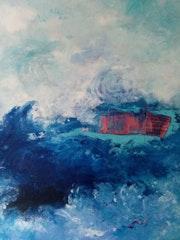 Bleu Caraïbe et son bateau phare.