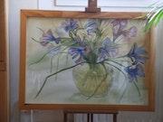 Bouquet d'Iris multicolorés.
