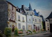 La place du Puits de Rochefort en Terre.