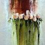 Les roses, peinture a l'huile. Yokozaza