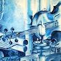 Le violon bleu. Bernard Sannier