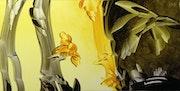 Le rêve de l'abeille - Harmonie noir et or.