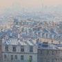 «Perspective atmosphérique sur les toits de Paris». Thierry Duval