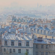«Perspective atmosphérique sur les toits de Paris».