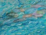 Pebbles in the stream. George Hutton Hunter