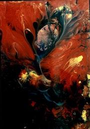 Peinture abstraite composition.