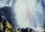 Peinture abstraite composition chute de montmorency.