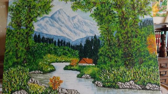 Bord de riviere de montagne. Christian Thiefaine Christian Thiefaine