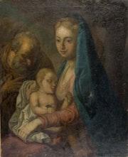 Gemälde «Die Heilige Familie» 18. Jhdt. , Aus Besitz der Grafen von Holnstein. Thomas Kern