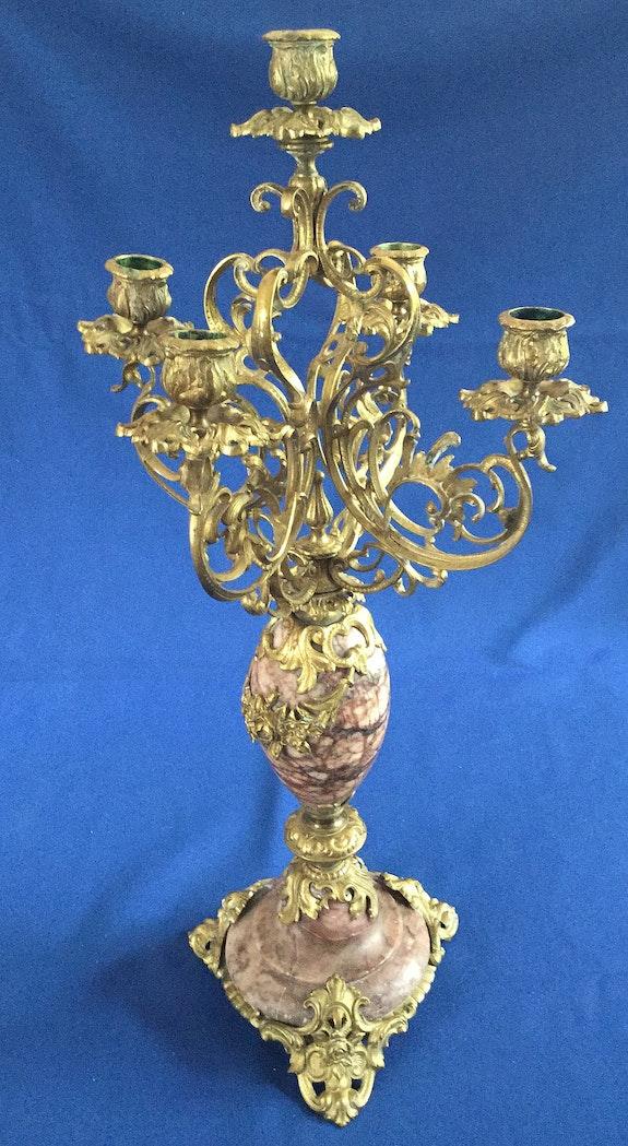 Großer Kandelaber um 1880.5-flammig, aus dem Besitz der Grafen von Holnstein.  Thomas Kern