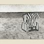 Der letzte Strandkorb.