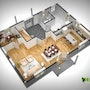 3D Floor Plan Rendering. Yantram Animation Studio