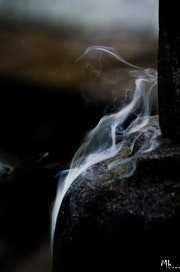 Woman ghost - in incense fumes.