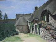 Village médiéval de poul fétan morbihan.