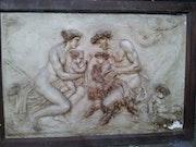 Unique -Original haut relief Platre.