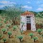 La vigne et le puits. Jean Claude Ciutad-Savary. Artiste Peintre