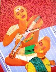 Violin player. V. V. Swamy