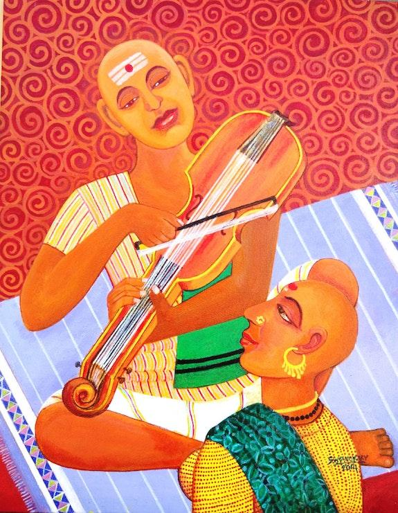 Violin player. Valluri Venkata Swamy V. V. Swamy
