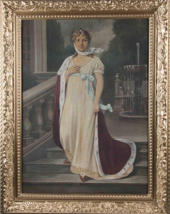 Gemälde Königin Luise von Preussen, Öl auf Leinwand, 19. Jhdt..  Thomas Kern