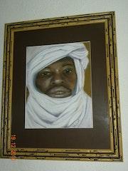 Ibrahim dogon au chèche.