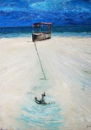 Zanzibar. Peinture réalisée au «couteau»..