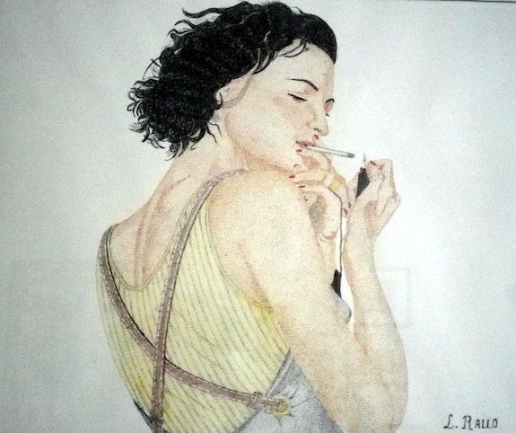 Une cigarette. Lydia Rallo Serena347
