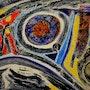 Interactions virtuelles, verre miroir mosaïque nouvelle vision. Daniele Fedi