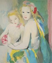 Les deux jeunes amies. Galerie Michel Aubriot