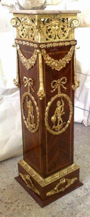Ormolu mounted custom made pedestal.