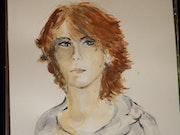 Portrait de jeune fille. Helene Chastel