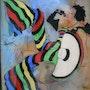 Peinture sous verre - Vive la vie !. Annie Saltel