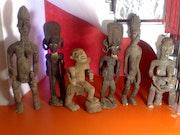 Collection de plusieurs stauettes antiques. Arthur Blanchard