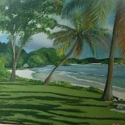 L'Ile de Petit-Saint Vincent dans les Antilles.