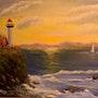 Lighthouse Sunset. Allison Prior Art