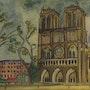 Face a Notre Dame de Paris. Gilles Duguet