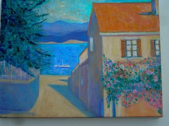 Le port au pied du village du Brusc en descendant du Mont Salva. Jacques Blasco Jacques Blasco