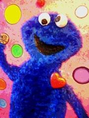 Cookie des Muppets l'ami d'Elmo. Radmila Sally Stojkovic Burton