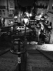 Perspective libre - Lamarck Caulaincourt - Novembre 2013. Anne Verron