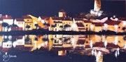 Gruissan - reflets sur l'étang.