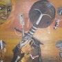 Pensée féconde (toile exposée du 3 au 13 avril à Ste Foy lès Lyon) Art africain. Eva