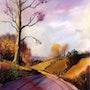 Paysage pastel. Andre Blanc