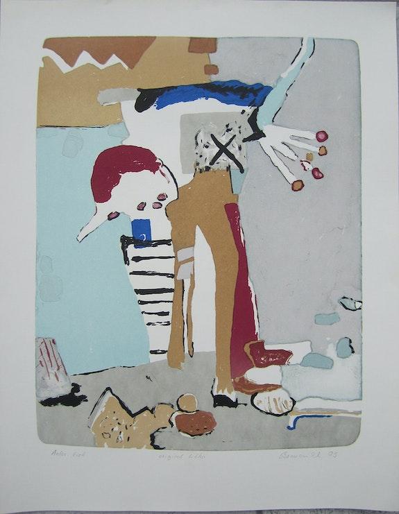 Vaclav Benedikt lithograph handsigned Sailor ea/97.  Elcoco