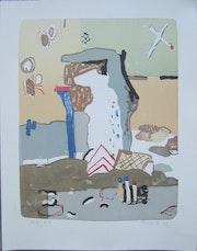 Vaclav Benedikt lithograph handsigned White Bear ea/85.