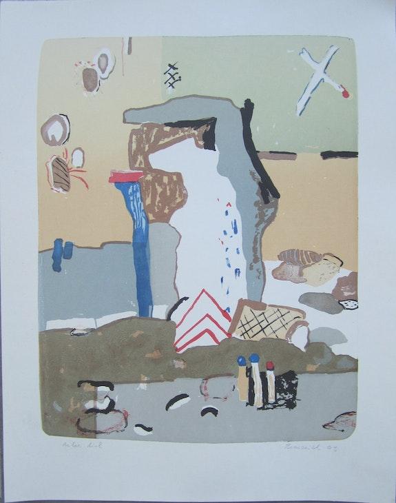 Vaclav Benedikt lithograph handsigned White Bear ea/85. Vaclav Benedikt Elcoco