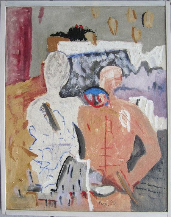 Vaclav Benedikt oil painting on canvas signed Partnership. Vaclav Benedikt Elcoco